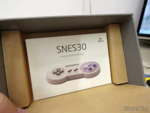 Embalagem do 8bitdo SNES30 GamePad