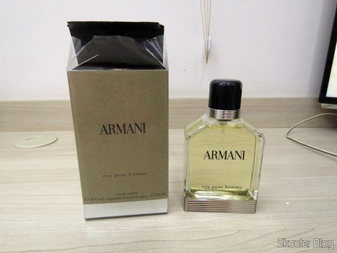 Armani 3.4 oz (100ml) EDT Spray and its packaging
