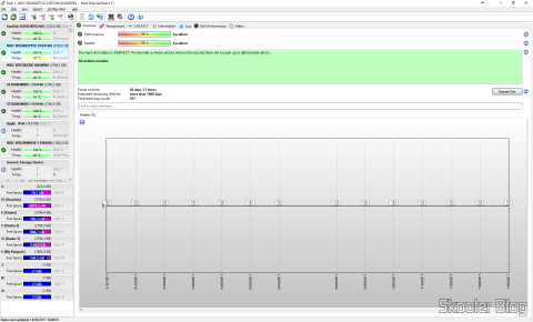 Hard Disk Sentinel, analyzing the HD after almost 3 months of use