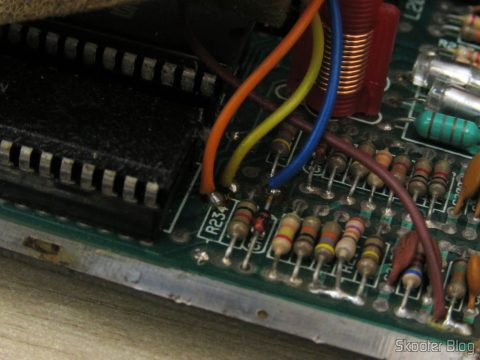 The 4 the yarn label of transcoding to PAL-M the Polivoks and R234 resistor missing