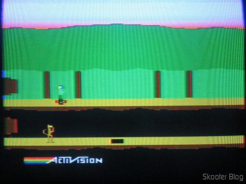 Pitfall, no Atari 2600 em fase de-transcodificação.