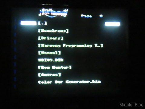 Harmony Cartridge no Atari 2600 no processo de de-transcodificação