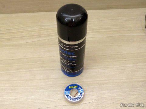 Colorless varnish Isotec Insulation Spray 300 ml Implastec and Dessoldadora Tape - Dessoldadora Hikari Mesh - 1,5m 3 mm