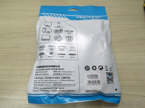 4th HDMI cable 2.0 4K-3D 60 Hz Vention of 2 meters, on its packaging
