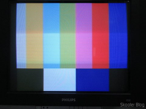 Paleta NTSC, com o 2600RGB via vídeo composto em TV CRT.