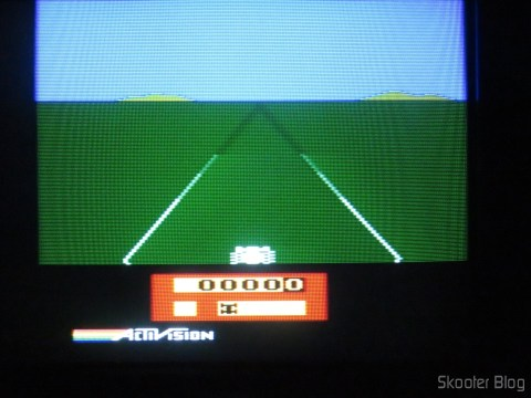 Enduro, with the 2600RGB via composite video on CRT TV.