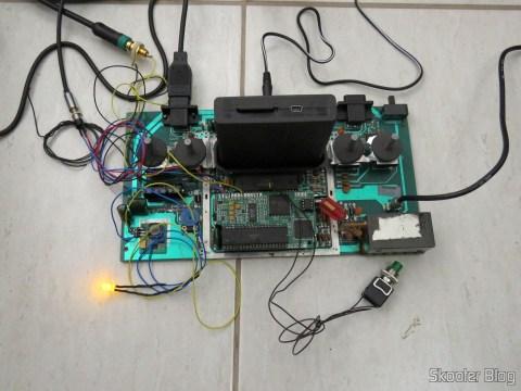 O LED no Atari 2600, em funcionamento.