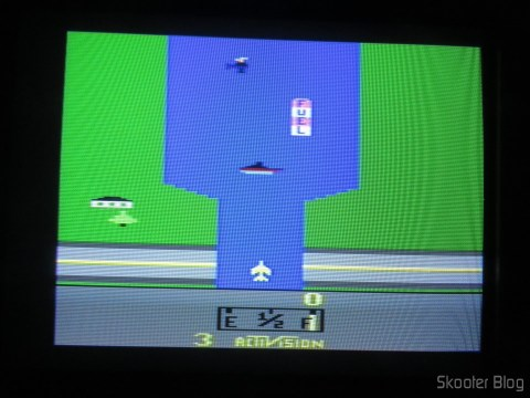 River Raid, with the 2600RGB via composite video on CRT TV.