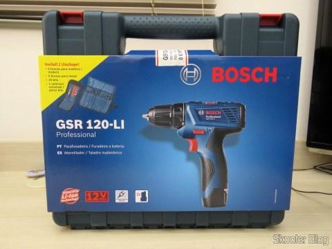 Parafusadeira-Furadeira à Bateria Bosch 12V GSR 120-LI, em sua maleta
