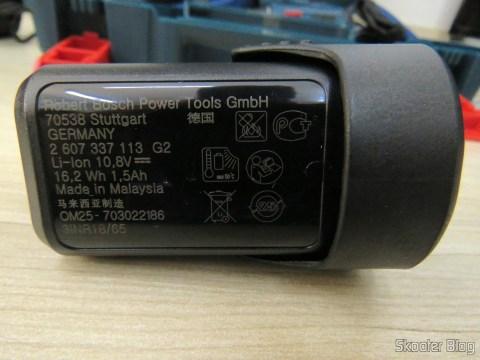 Bateria da Parafusadeira-Furadeira à Bateria Bosch 12V GSR 120-LI