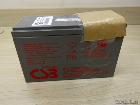 Batteries CSB HR 1234W F2 12VDC 9Ah 34W long life 8 years