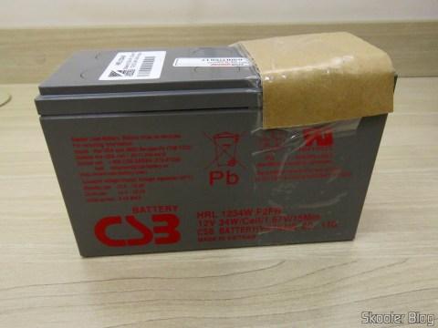 Bateria CSB HR 1234W F2 12VDC 9Ah 34W longa vida 8 years