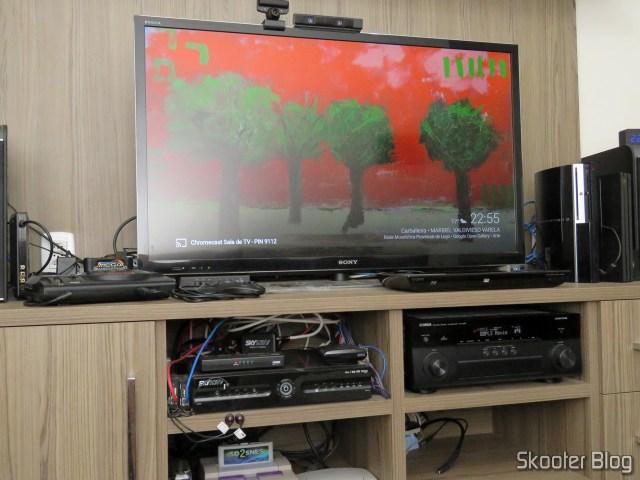 Chromecast Ultra, pronto para uso.
