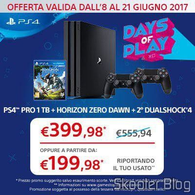 June promotion of Playstation 4 At GameStop of Italy