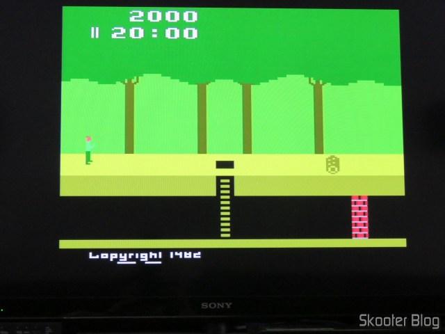Pitfall, usando a saída S-Video do 2600RGB.
