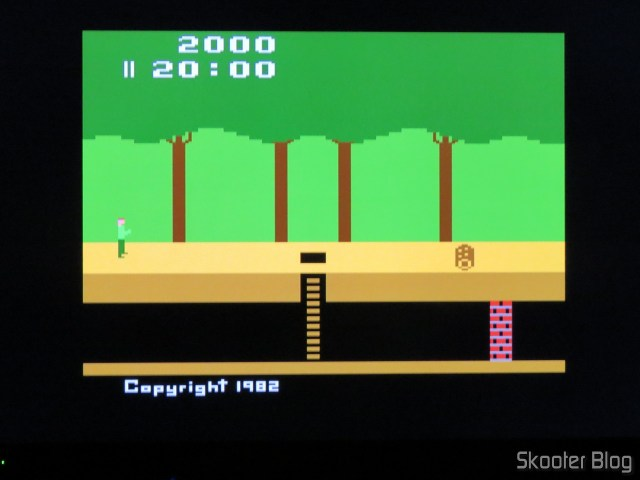 Pitfall, on the Atari 2600 with the 2600RGB using the RGB output.