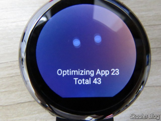 Amazfit Pace otimizando aplicativos.
