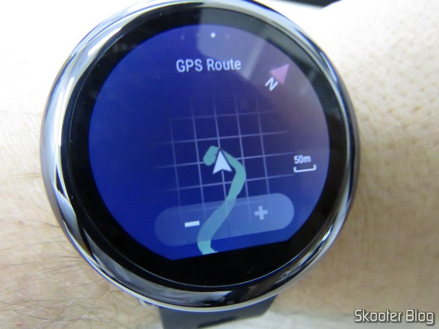 Rota feita com o GPS no Amazfit Pace.