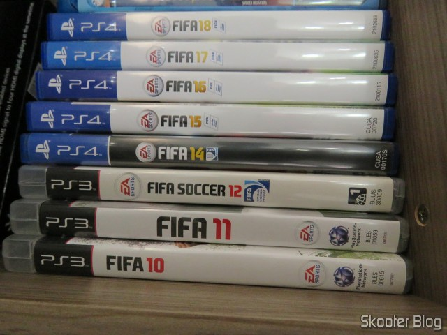 Todos os meus Fifa para Playstation 3 e Playstation 4,