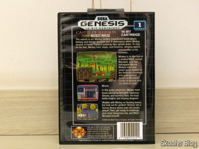 Mega Drive cartridge of AliExpress: Castle of Illusion starring Mickey Mouse, in your box.