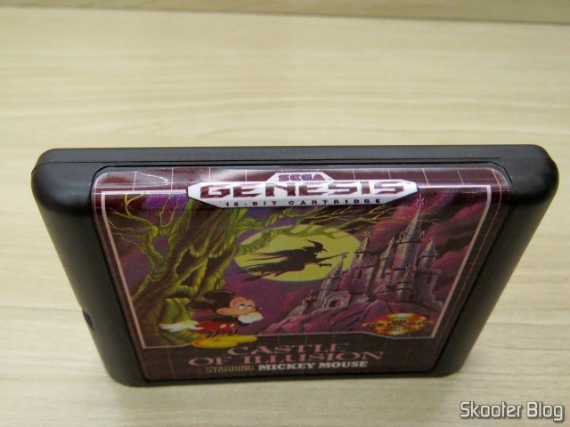 Cartucho de Mega Drive da AliExpress: Castle of Illusion starring Mickey Mouse