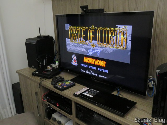 Mega Drive cartridge of AliExpress: Castle of Illusion starring Mickey Mouse, operation.