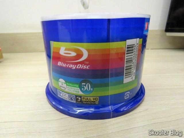 2º Tubo com 50 Discos Blu-Ray Graváveis BD-R 25GB Verbatim 6X.