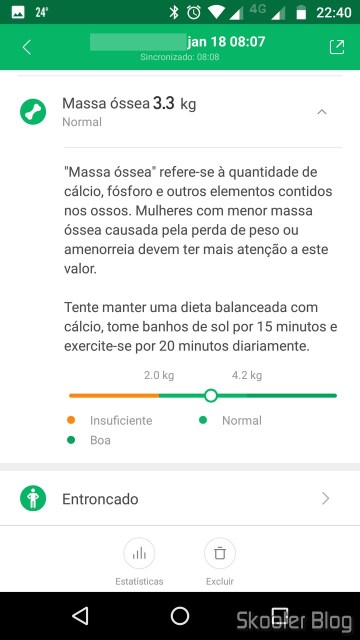 Mi Fit: Massa Óssea.