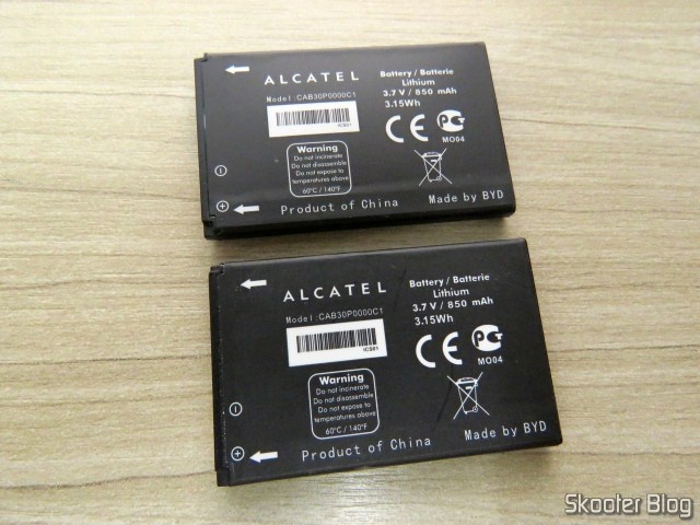 Alcatel Battery CAB30P0000C1: the new and the that came with my phone.