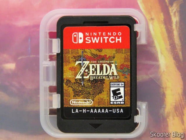 The Legend of Zelda cartridge: Breath of the Wild - Nintendo Switch.