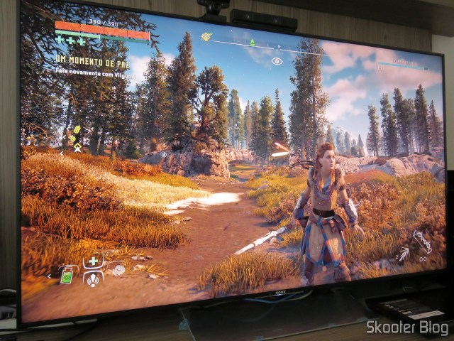 Playstation 4 Pro na TV Sony XBR-55X905E.