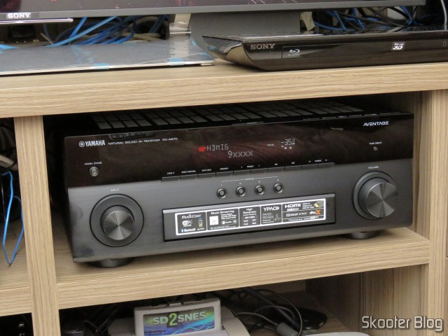 Receiver Yamaha Aventage RX-A870, identifying the source: MSI Cubes 2.