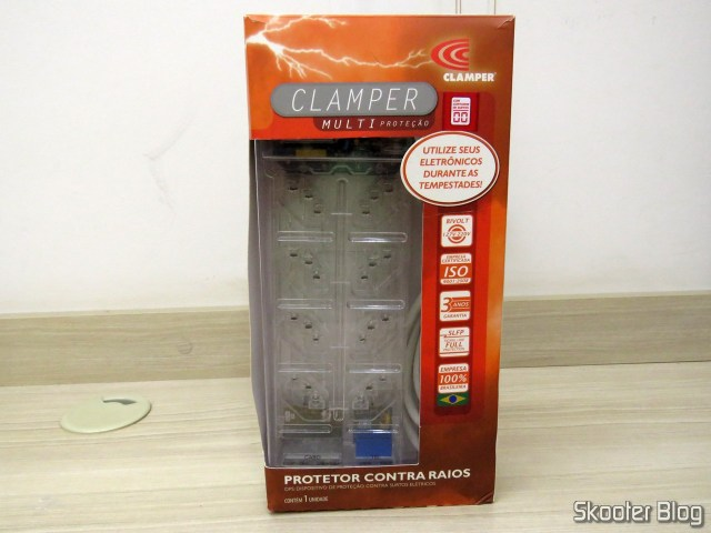 Clamper Multi protection with surge Counter, on its packaging.