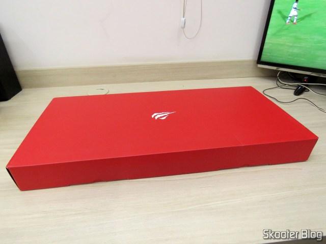 Mechanical Keyboard Jus HV-KB370L RGB, on its packaging.