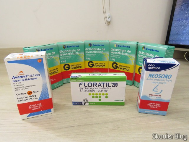 Drogaria Onofre - 5º Pedido: 5x Dicloridrato de Levocetirizina 5mg, Floratil 200, Avamys e Neosoro