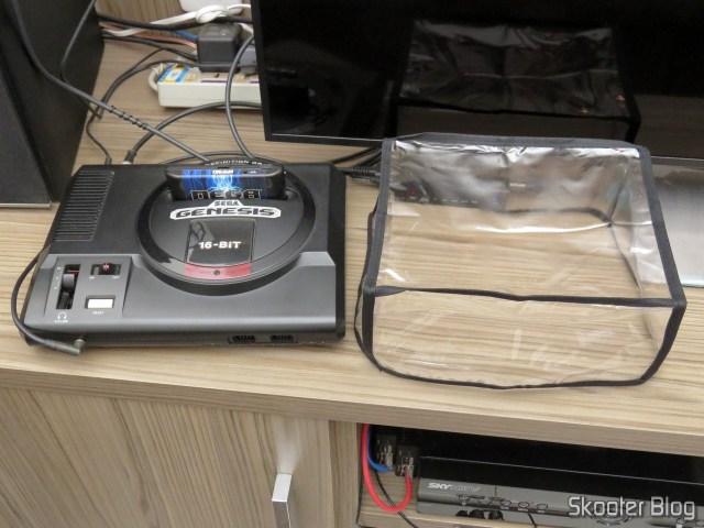 Sega Genesis, e a capa que não coube, pois passei uma medida errada :( .