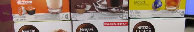 2ª Remessa de Cápsulas Nescafé Dolce Gusto:  Cappucino, Chococino, Caramel Latte Macchiato, Nescau,  Marrakesh Style Tea,  e Nestea® Limão