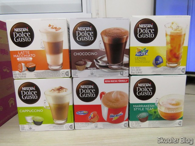 2ND shipment of Nescafé Dolce Gusto Capsules:  Cappucino, Chococino, Caramel Latte Macchiato, Chocolate milk,  Marrakesh Style Tea,  and Nestea ® Lemon