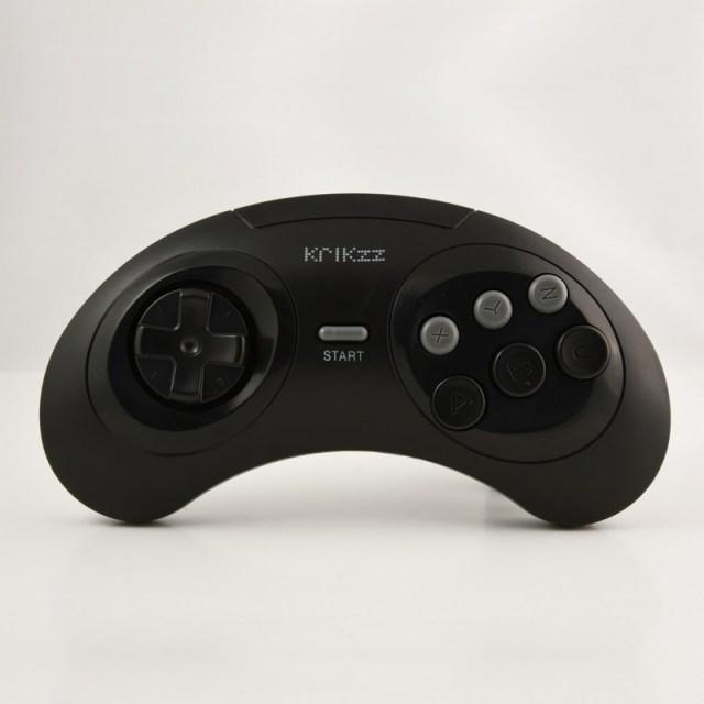 Joyzz - O Controlador Sem Fio para Mega Drive do Krikzz - Versão Preto Clássico.