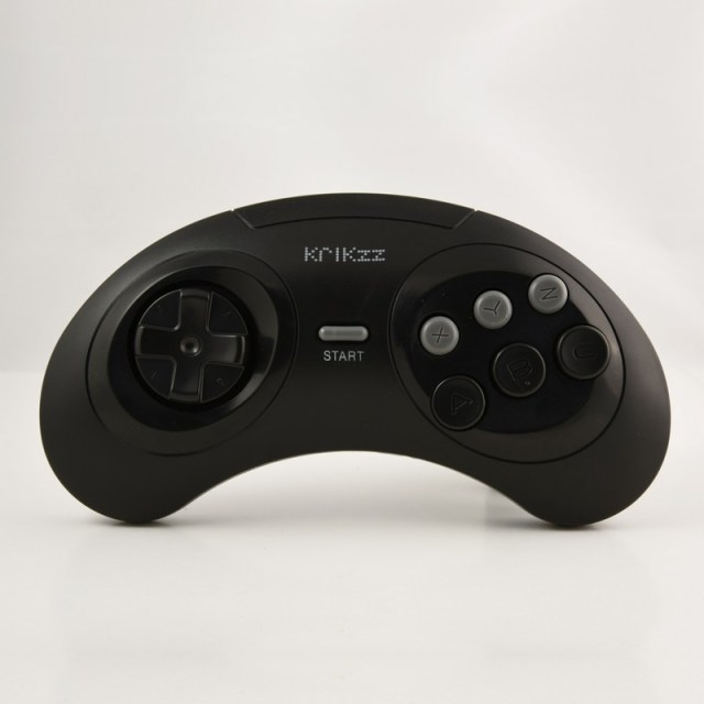 Joyzz - The Wireless Controller for Sega Genesis of Krikzz - Classic Black Version.