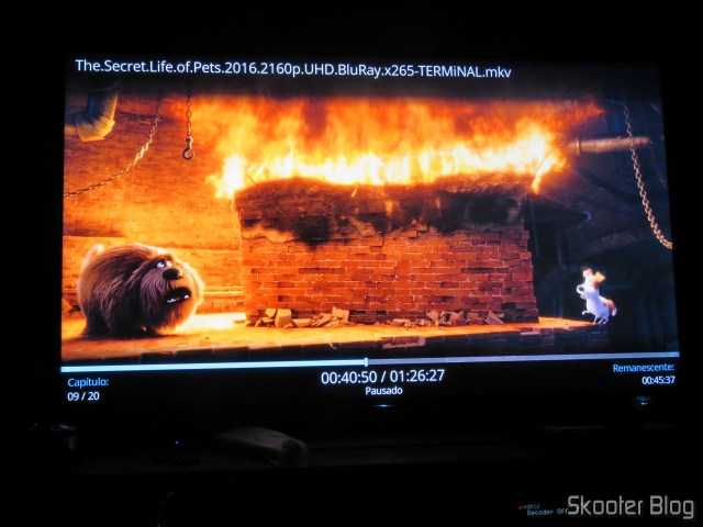 """The Secret Life of Pets"" in 4 k HDR in Minix NEO U9-H."