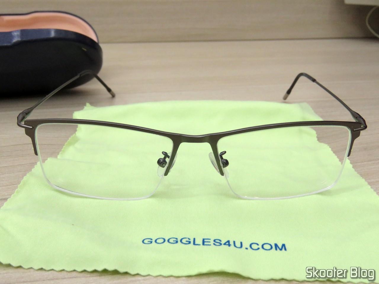 698518d12 Óculos de Grau com Lente 1.67 Super Fina (G4U Y3229 Rectangle Eyeglasses  124477-c