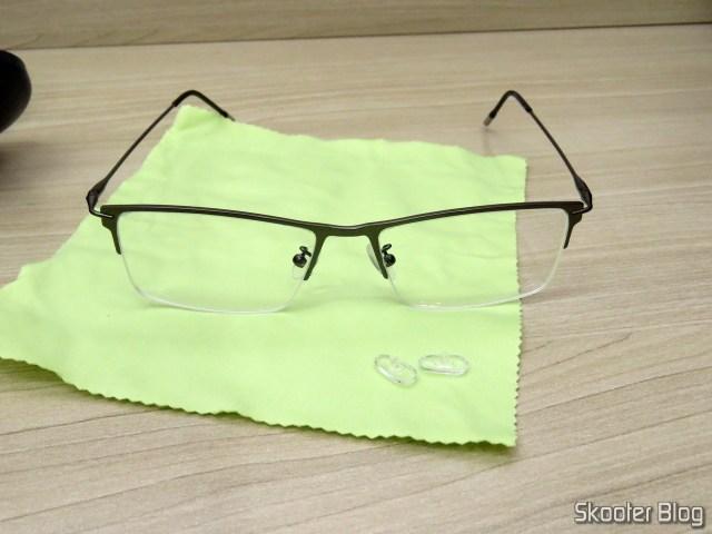 Óculos de Grau com Lente 1.67 Super Fina (G4U Y3229 Rectangle Eyeglasses 124477-c).
