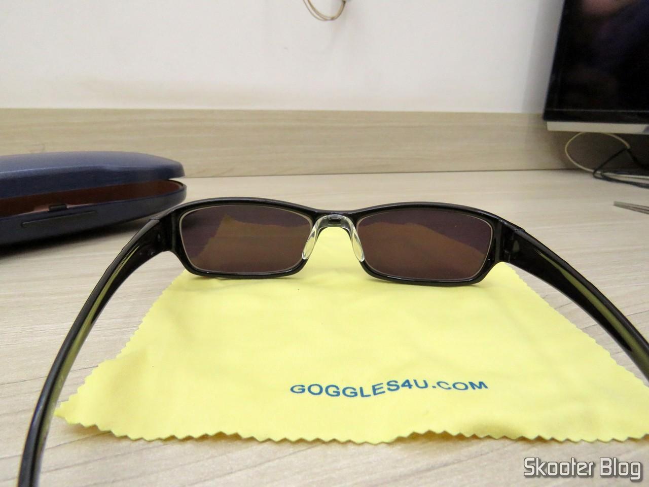 Óculos de Sol com Grau, Lente Preta Escura (G4U T3022 Rectangle Eyeglasses  124765- 710933c2b0