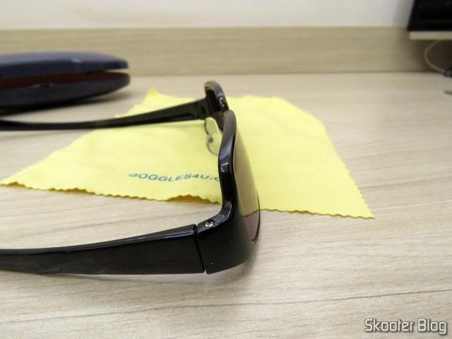 Óculos de Sol com Grau, Lente Preta Escura (G4U T3022 Rectangle Eyeglasses 124765-c).