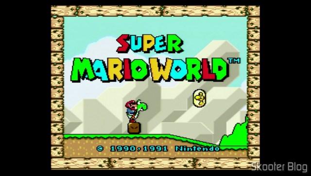 Super Mario World no Super Nintendo 3Chip (2/1/2).