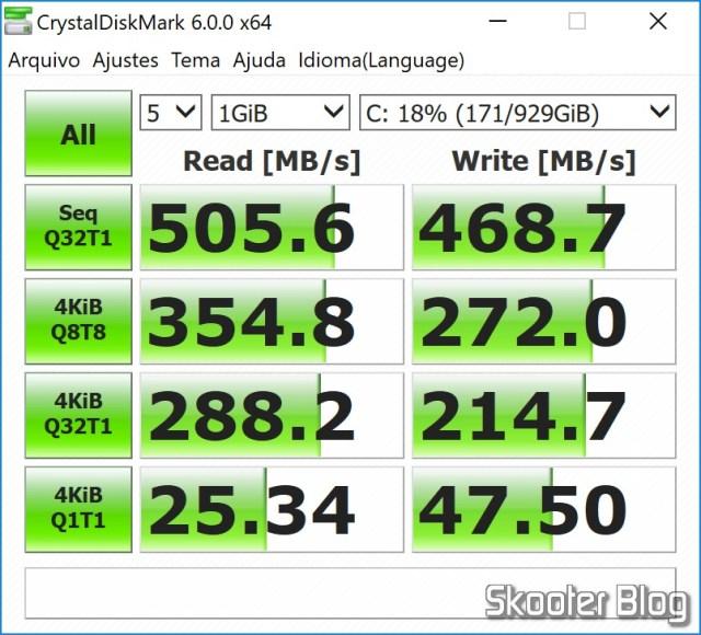 SanDisk 1TB Ultra 3D NAND SATA III SSD - 2.5-inch Solid State Drive - SDSSDH3-1T00-G25 no CrystalDiskMark.