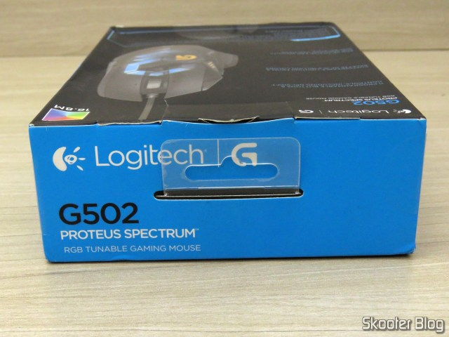 Logitech G502 Proteus Spectrum RGB Tunable Gaming Mouse, on its packaging.