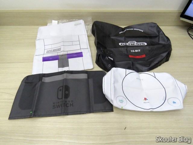 Capas para consoles de videogames do Printer Boy.