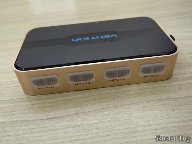 Parte traseira do Switch HDMI Vention VAA-S20.